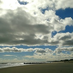 (Christina Nalio) Tags: ocean sky storm beach water clouds newjersey sand sandy hurricane monmouthcounty jerseyshore seagirt flickrandroidapp:filter=none hurricanesandy
