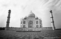 "Grandiose (""The Wanderer's Eye Photography"") Tags: world longexposure travel sky bw india holiday building tower history love tourism monument monochrome beautiful beauty architecture canon wonder landscape eos amazing shrine asia glow arch symbol minaret gorgeous indian muslim famous religion tomb bangalore culture tajmahal agra landmark palace mosque tourist panoramic structure unesco fisheye mausoleum dome destination romantic marble tradition dslr karnataka breathtaking attraction islamic digitalphotography verticalpanorama shahjahan mughal moghul uttarpradesh mumtaz yamuna canoneos450d bangalorephotographers canoneosrebelxsi rubenalexander thewandererseye"