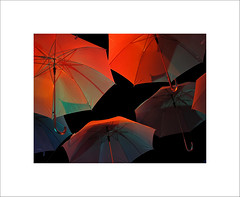 The collapsible canopy VII (BLANCA GOMEZ) Tags: red night umbrella parasol catalunya brolly garraf vilanovailageltru