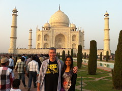 The Browns at the Taj Mahal