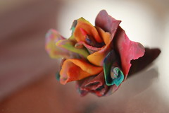 The Art of Play-Doh (BrownZelip) Tags: pink red orange flower color macro green art up rose close purple zoom small craft tiny playdoh rolled brownzelip