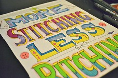 (lemontuned) Tags: art pen ink poster word typography colorful hand bright quote sewing crafts sew type stitching drawn motivational prismacolors bitching