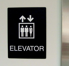 Interior ADA Compatible Elevator Sign