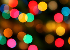 Christmas Lights (Spencer Purkiss) Tags: santa christmas xmas pink blue winter light red orange holiday blur color colour tree green yellow pine circle festive lights focus holidays colorful stream pattern purple bright bokeh circles patterns shapes christmastree outoffocus christmaslights led depthoffield presents 100views colourful merrychristmas xmastree happychristmas 2010 lightstream notinfocus xmasart lightcreation lightcreations