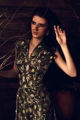FEAR NIGHT (Andrew Kalashnikov) Tags: trees portrait house black green girl beauty fashion forest model russia expressive mystical emotional