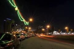 Gurney Drive - Penang (eternal_ag0ny) Tags: road light red orange green car night island drive nikon long exposure shot roundabout tokina trail malaysia penang pulau gurney pinang 1116mm d300s