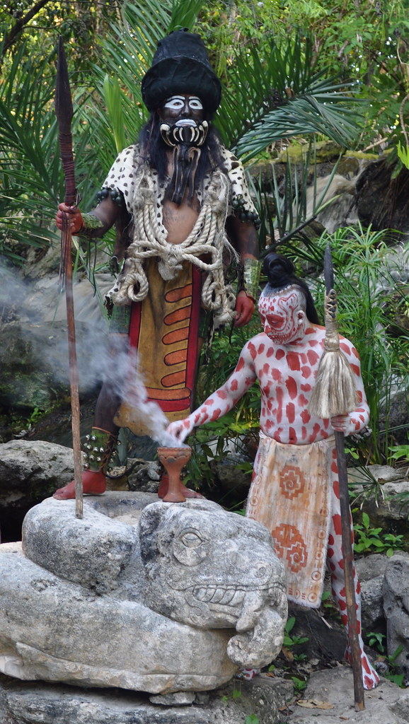 Bf E B on Aztec Dance Headdress