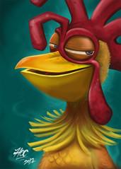 Chicken Joe (Hoc // Jose) Tags: las art chicken up de fan surf joe el pepe concept pollo olas ilustration reyes ilustracion surfs cresta pollito