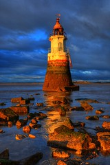 PLOVER SCAR LIGHTHOUSE, COCKERHAM SANDS, COCKERHAM, LANCASHIRE, ENGLAND. (ZACERIN) Tags: scar digitalcameraclub sands plover lighthouse lighthousetrek england lancashire cockerham cockerham