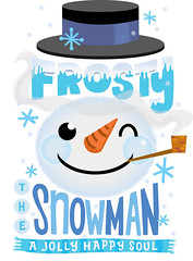 frosty reject (Jill Howarth) Tags: snowflake winter snow hat illustration scarf snowman pipe frosty carrot vector handdrawnlettering