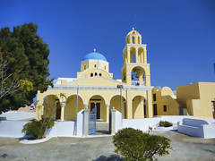 Churches of Santorini.- (ancama_99(toni)) Tags: church architecture arquitectura europe sony churches hellas santorini greece grecia oia 2012  10favs 10faves  notioaigaio dscw380 sonydscw380 blinkagain
