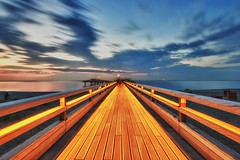 Erlebnisbrucke (dubdream) Tags: ocean longexposure bridge sunset sea seascape germany landscape pier nikon balticsea ostsee hdr fehmarn tourismus schleswigholstein d800 seebrcke heiligenhafen colorimage summerwater erlebnisbrcke dubdream seebrckeheiligenhafen