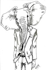 elefant (Viktor Sigh) Tags: original elephant animal illustration viktor grey head gray ivory sigh tusks vadur