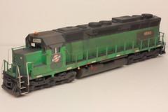 6583 FL (Set and Centered) Tags: railroad scale electric train diesel locomotive ho custom sd45 emd cnw 6557 6583
