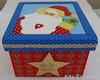 Caixa Natalina em Patch Embutido (ARTE ENCANTO - III) Tags: santa christmas natal noel caixa porta claus biju papai tecido natalina