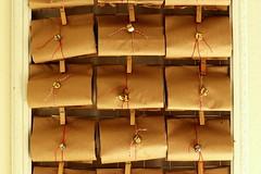 2012 advent calendar (annalea hart) Tags: christmas bells advent calendar twine clothespins paperbags