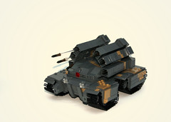 Syndicate Contest Entry. ([Stijn Oom]) Tags: mobile tank tracks camo rocket rockets defense launcher unit edf launchers brickarms
