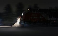 Still Storming (view2share) Tags: railroad travel winter snow weather wisconsin night cn train track december transport tracks rail railway rr trains nighttime transportation ge wi railroaders railroads gullwing generalelectric canadiannational railroading 516 atsf december9 newrichmond c408w trackage cn2185 cn516 l516 december92012