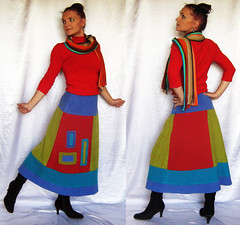 Skirt Patchwork Applique Autumn Winter Bright Colorful Multicolor Long Inspired by Klimt (SunshineProduct) Tags: autumn winter woman girl colorful warm bright skirt boho applique bohemian multicolor climt bohemianchic