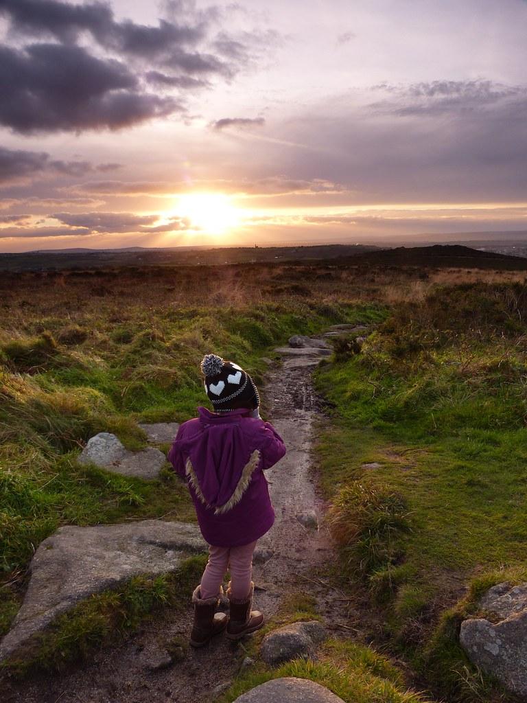 8205 cornwall - Ella On Carn Brea Footpath B Scarlett Tags Sunset Cornwall 09 Reverse