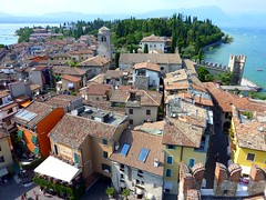 Panorama of the historical centre of Sirmione in Lake Garda (Frans.Sellies) Tags: italy lake garda italia lakegarda lagodigarda p1480924