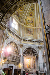 Golden Dome (Jocey K) Tags: flowers light people italy sculpture signs rome detail building church window architecture gold lights design words candles furniture lace interior balcony paintings halo ceiling altar dome marble hoilday coth santamariadiloreto