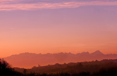 CIMG1674 - ON EXPLORE # 206 (pinktigger) Tags: sunset italy mountains landscape italia friuli fagagna feagne