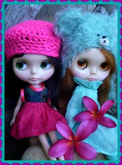 """The """"Frangipani Sisters"""" otherwise known as Eloise and Hadley!"""