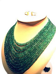 632 cts Emerald Bead Necklace 3 (cottagedel) Tags: emerald beads naturalstone finejewellery indianjewellery handmade