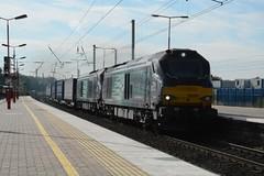 "Direct Rail Services Class 68's, 68004 ""Rapid"" & 68018 ""Vigilant"" (37190 ""Dalzell"") Tags: drs directrailservices revised compassswoosh vossloh valencia cat class68 68004 rapid 68018 vigilant northwestern wigan"