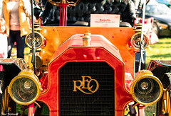 REO (Thad Zajdowicz) Tags: car vehicle automobile detail classic vintage antique headlights grille windshield reo color red gold 366 365 zajdowicz rockville maryland montgomerycounty canon eos 7d dslr digital outside outdoor show lightroom