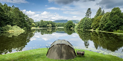 Gone fishing (oxfordwight) Tags: fishing landscape water tent rods lake bivvy