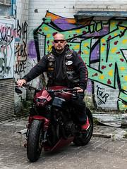 P1200404 (O.Th Photographie) Tags: fighter motorrad blutwurst prchen industrie alt ps gefhrlich grafiti look badboy elbside fighters