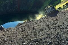 Kerid Volcano: Steam (AntyDiluvian) Tags: iceland reykjavik tour goldencircle volcano crater caldera volcanicrock lake steam geothermalsteam geothermal kerid keri
