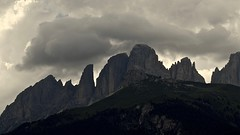 Dolomites, Sassolungo Fork. (primo piano) Tags: dolomites montagna unesco alpi canazei sassolungo clouds