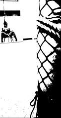 No grey: Patience 2 (martinmmyrhaug) Tags: monochrome blackandwhite bondage wand fetish bdsm boobs fishnet highheels rope