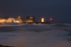 Porthcawl storm (Chris M Lawrence) Tags: porthcawl storm waves weather sea surf ocean lighthouse breakwater night