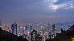 Good Morning, misty Hong Kong.. (Master Octa) Tags: canon powershot sx50 sx50hs canonpowershotsx50hs tower skyscraper highrise hirise building office hotel resort shoppes shop shoppingmall shopping mall skyline cbd downtown city cityscape vertical water waterfront bayfront night nightshot lowlight noflash lowexposure hk hkg hongkong china chinapr hongkongsar light color colour colorful colourful landscape victoriaharbor harbour victoriaharbour morning dawn sunrise sky horizon