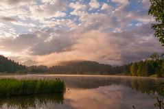 Geroldsee Morning (mattinho2704) Tags: geroldsee germany lake see deutschland nature natur sun sunrise clouds wolken bluesky sky travel green wandern hiking reflection water nikon nikond300 mountains mountain gebirge berge