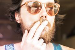 El (Lorenzo Appiani) Tags: sunglasses cigarette redhair bear red smoking