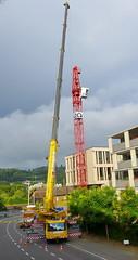 Baustelle in Wettingen 17.7.2016 1928 (orangevolvobusdriver4u) Tags: 2016 archiv2016 wettingen schweiz switzerland aargau baustelle construction kran crane grove