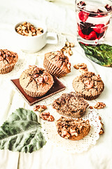 break chocolate muffins with walnuts, vegan, bright background, top view (harmonyandtaste) Tags: autumnbaking baked bakery breakfast cake chip chips chocolate christmas coconutsugar cupcake dairyfree delicious dessert fall fresh glutenfree healthy homemade muffins nuts onlyhealthyingredients plantbased rustic snack sweet vegan vegetarian warmbackground wholefoods
