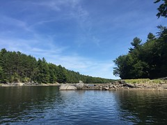 "rounding the corner into ""the narrows"" (i.e. the crotch!) (Gillian Walker) Tags: crotch lake ontario canoeing camping summer labour day 2016"