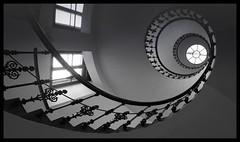 Corkscrew stairs (Barbara Zemann) Tags: vienna light stairs wien