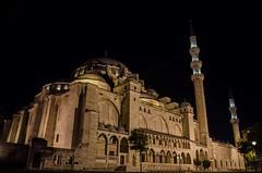 Süleymaniye Mosque (mazharserdar) Tags: süleymaniyemosque sky travel minaret turkey night dome istanbul architecture cami mosque süleymaniye