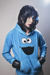 Cookie (ReAle Photography) Tags: cookie monster cookiemonstermale model shemale gay look female pictres wig blue makeup portrait fashionportrait