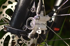 MTB brakes; scary by name, scary by nature! (Michael C. Hall) Tags: mtb mountainbiking mountain bike brake hydraulic stop power skeletal brand disk