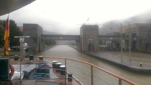 Entering a lock on the Germany/Austria border