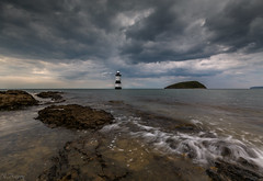 Penmon Lighthouse and Puffin Island (nigel.barry22) Tags: sky cloud sea ocean rock coast shore headland penmonlighthouse puffinisland blackpoint penmon anglesey