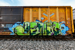 (o texano) Tags: houston texas graffiti trains freights bench benching genji nfm mhc rem